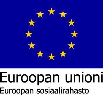 Euroopan unionin sosiaalirahaston tunnus.