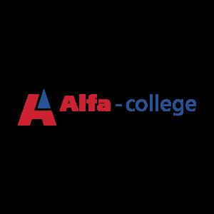 Alfa-collegen logo.
